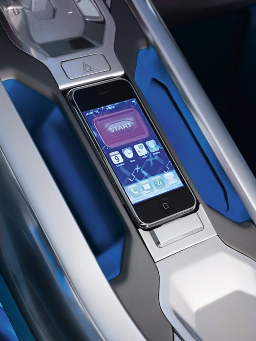 Land Rover LRX Concept, iPhone, iPhone dock